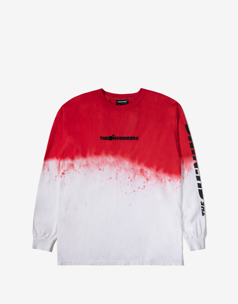 The Hundreds x The Shining River Long Sleeve T Shirt - Red