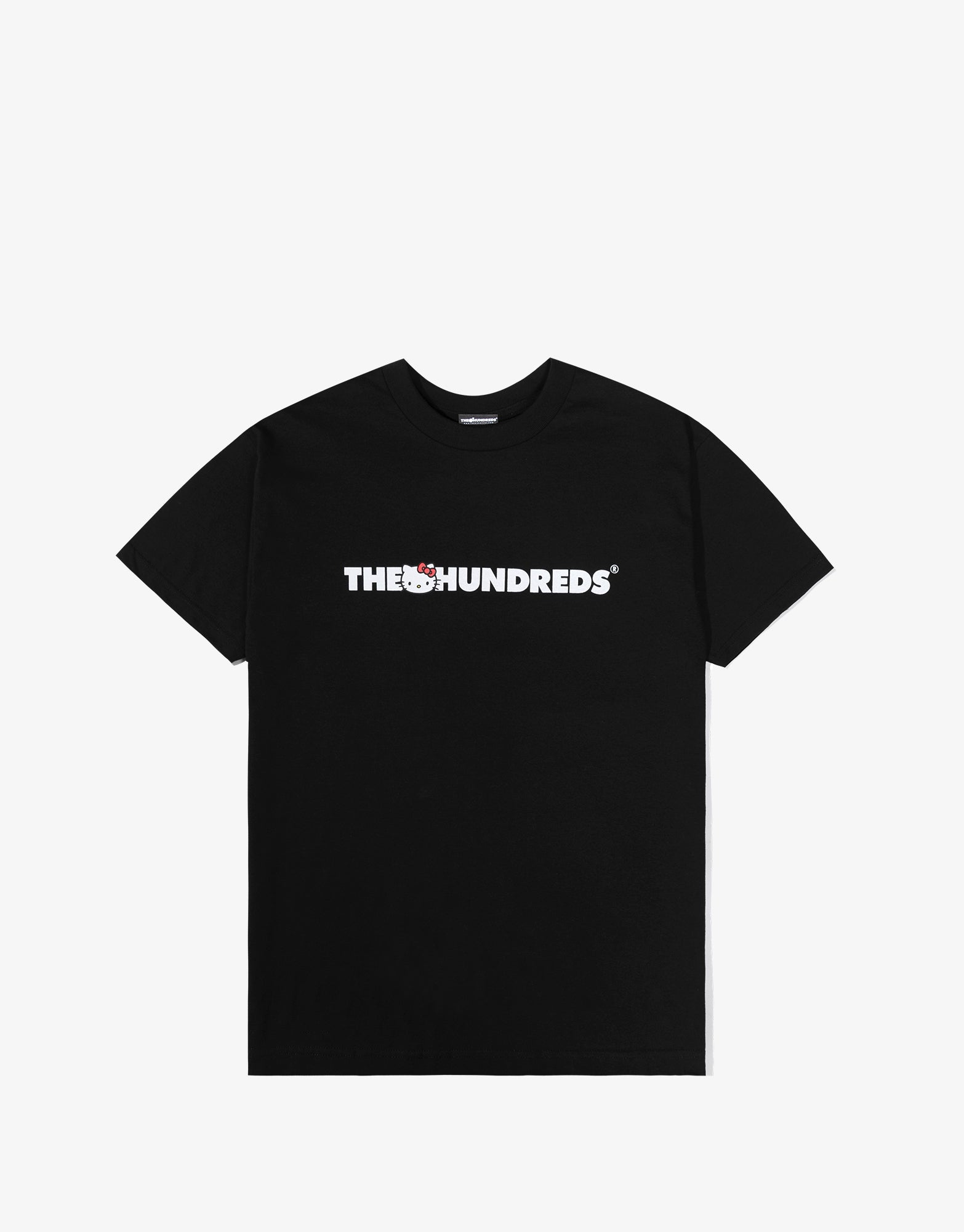 The Hundreds x Sanrio Kitty Bar Logo T Shirt - Black