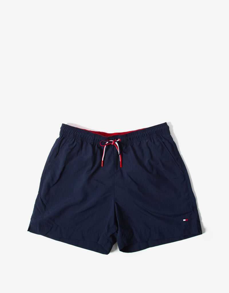 Tommy Hilfiger Swimwear Medium Drawstring Swim Shorts - Pitch Blue