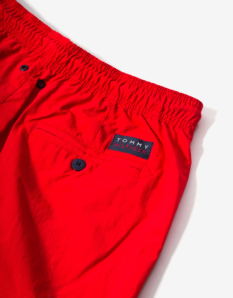 Tommy Hilfiger Swimwear Medium Drawstring Swim Shorts - Red Glare