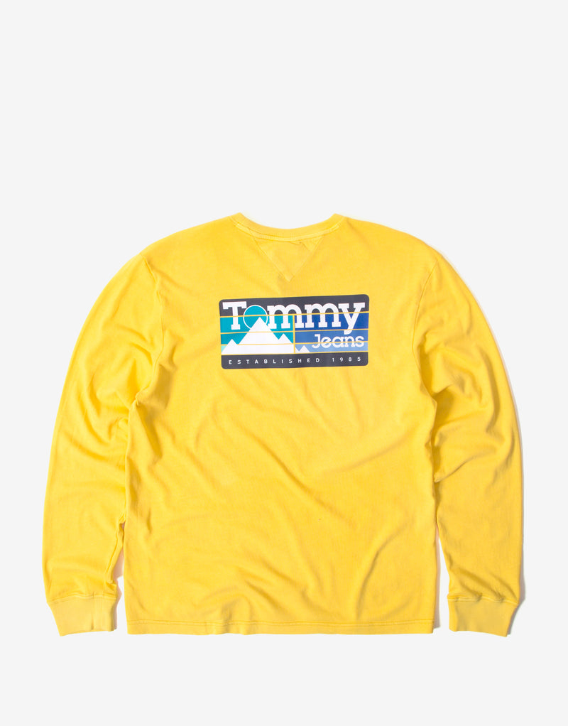 Tommy Jeans Back Mountain Graphic T Shirt - Valley Yellow