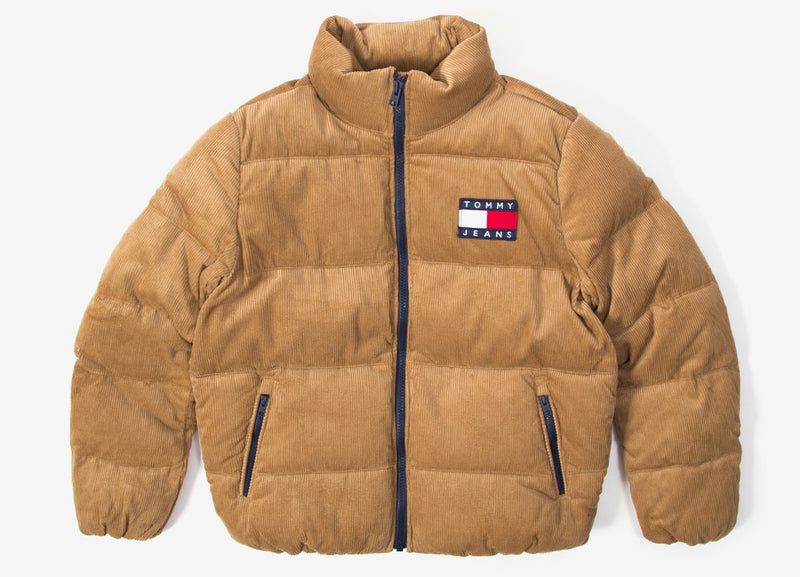 Tommy Jeans Cord Puffer Jacket - Tiger's Eye