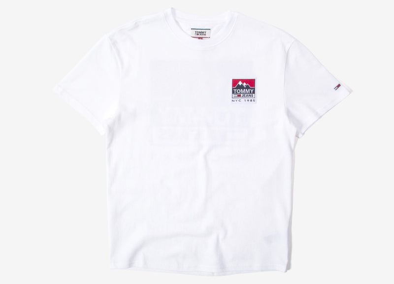 Tommy Jeans Mountain Back Logo T Shirt - Classic White
