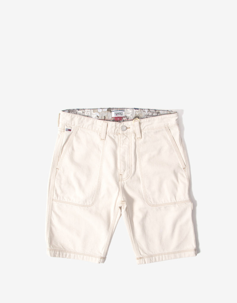 Tommy Jeans Organic Cotton Workwear Shorts - Work Ecru Rig