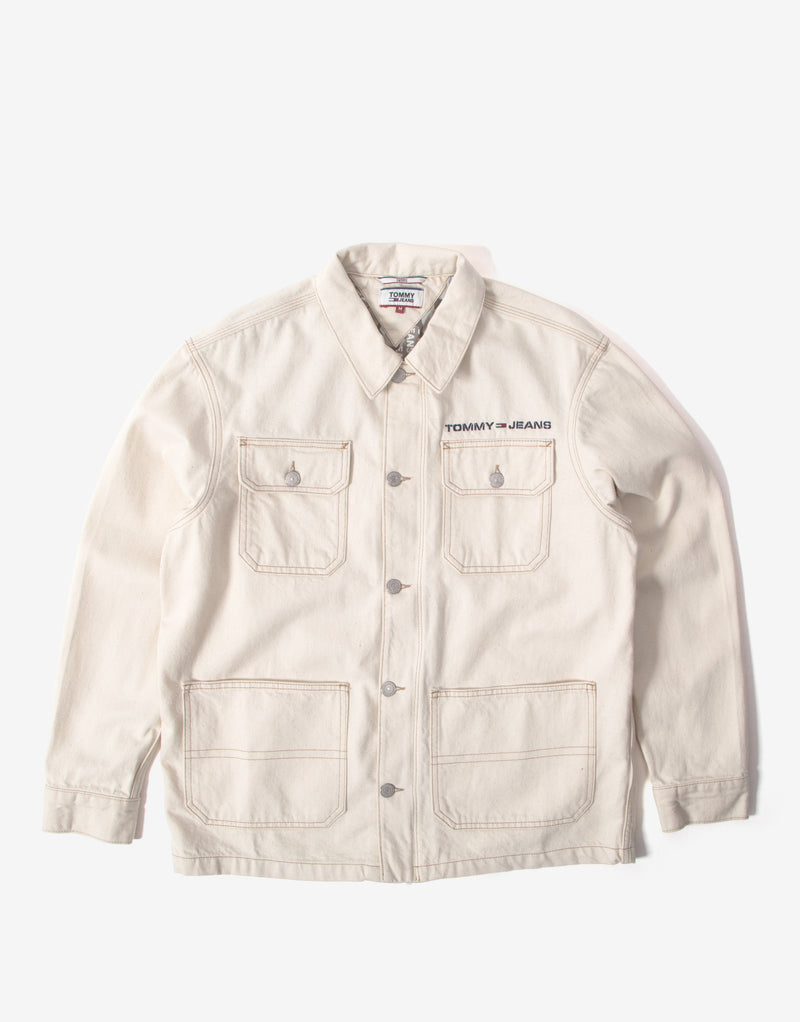 Tommy Jeans Oversize Workwear Jacket - Work Ecru Rig
