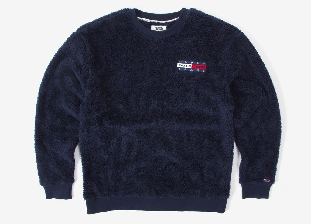 Tommy Jeans Plush Fleece Sweatshirt - Black Iris