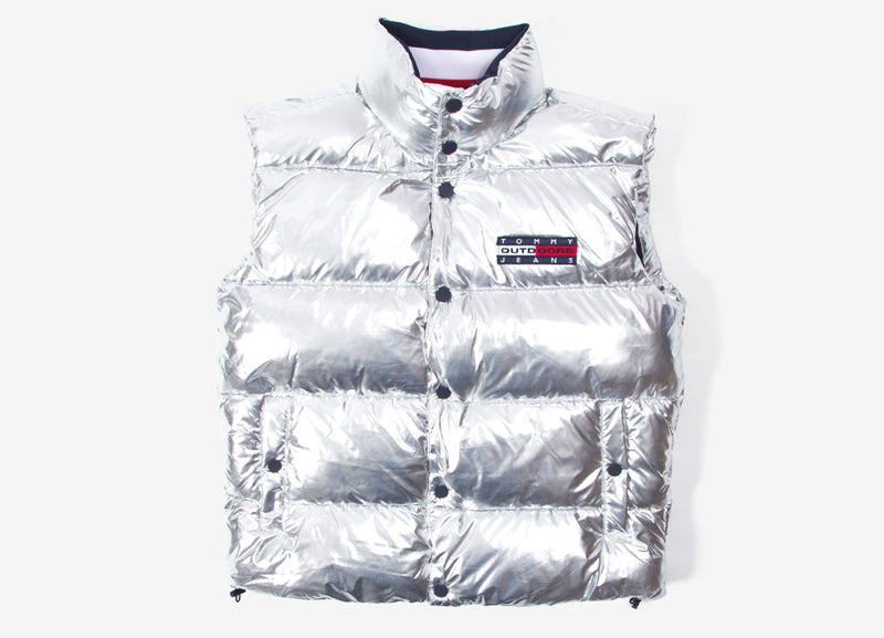 Tommy Jeans Puffa Vest - Silver