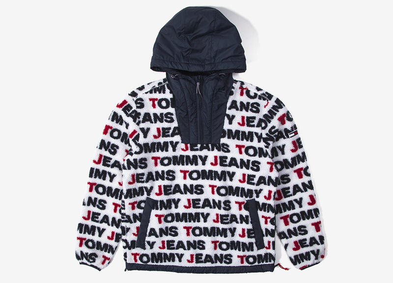 Tommy Jeans Sherpa Pop Over - White/Multi