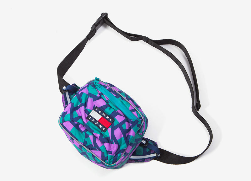 Tommy Jeans Sport Tech Bumbag - Teal/Navy/Purple
