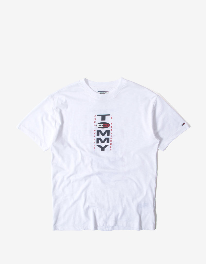 Tommy Jeans TJM Vertical Back Logo T Shirt - White