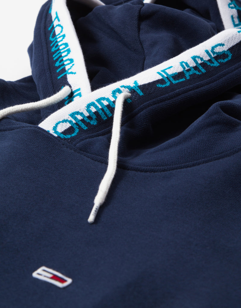 Tommy Jeans TJM Branded Rib Hoody - Twilight Navy