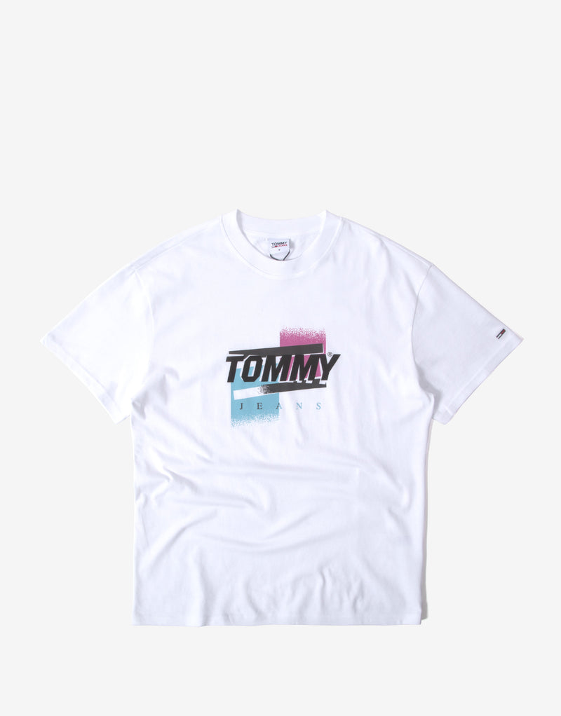 Tommy Jeans TJM Faded Color Graphic T Shirt - White