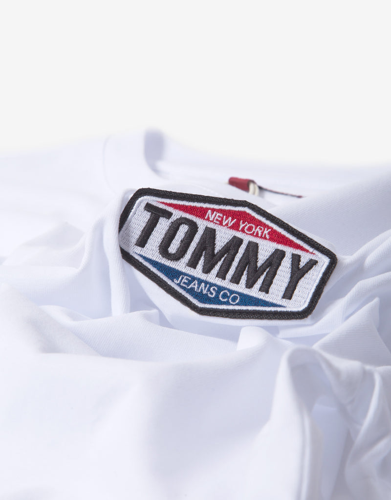 Tommy Jeans TJM Patch Logo T Shirt - White