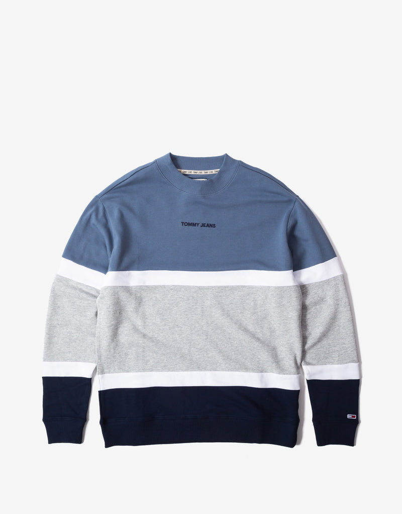Tommy Jeans TJM Retro Colourblock Crewneck - Faded Ink/Multi