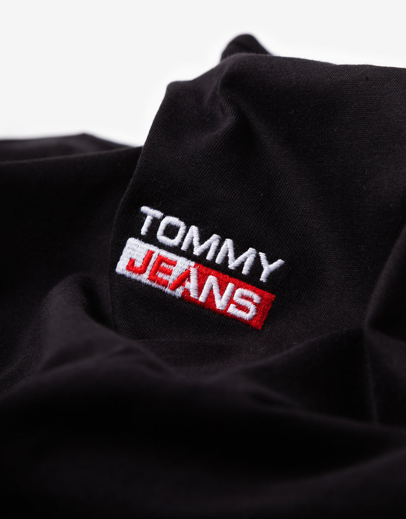 Tommy Jeans TJM Small Centered Logo T Shirt - Black