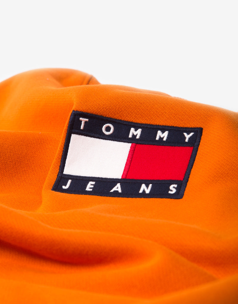 Tommy Jeans TJM Small Flag Crewneck Sweatshirt - Bonfire Orange