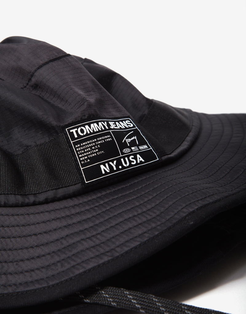 Tommy Jeans Urban Tech Bucket Hat - Black