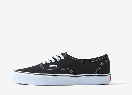 Vans Authentic Lite Canvas Shoes - Black/White