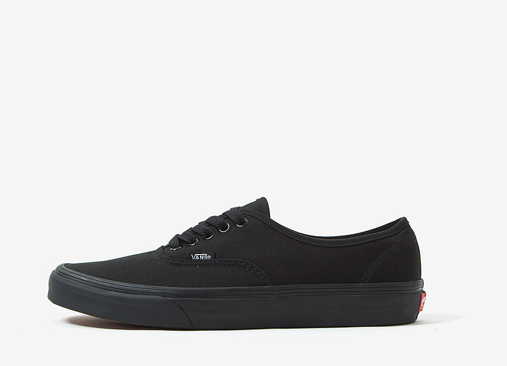 vans black authentic shoes