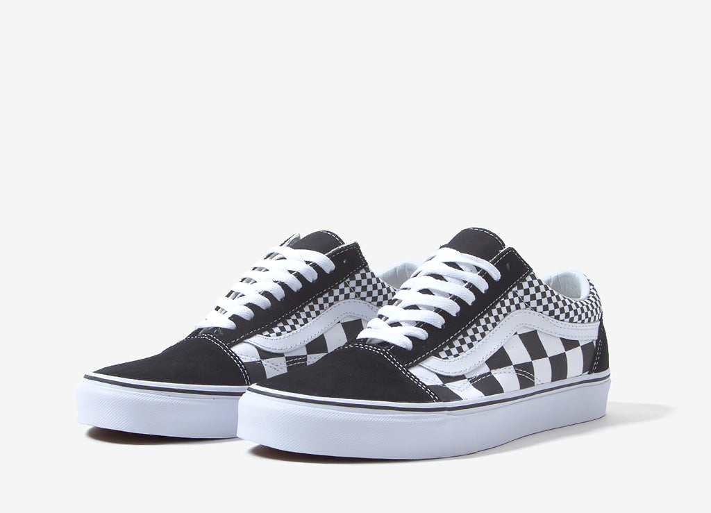 Vans Old Skool  Mix Checker  Shoes - Black 4cf65e95c4