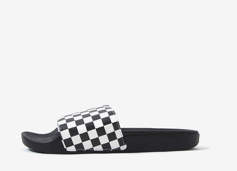 Vans MN Checkerboard Slide-On - Black/White