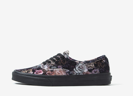 Vans Authentic (Velvet) Shoes - Floral Black