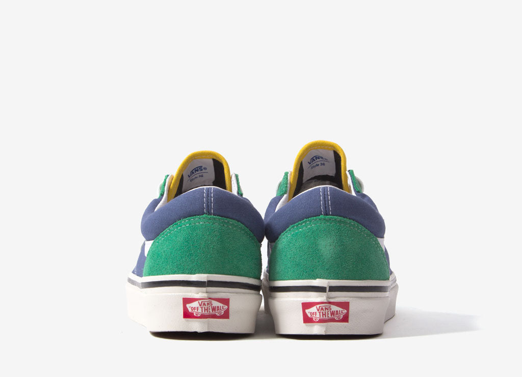 Vans Old Skool 36 DX 'Anaheim Factory' Shoes - OG Emerald/OG Navy