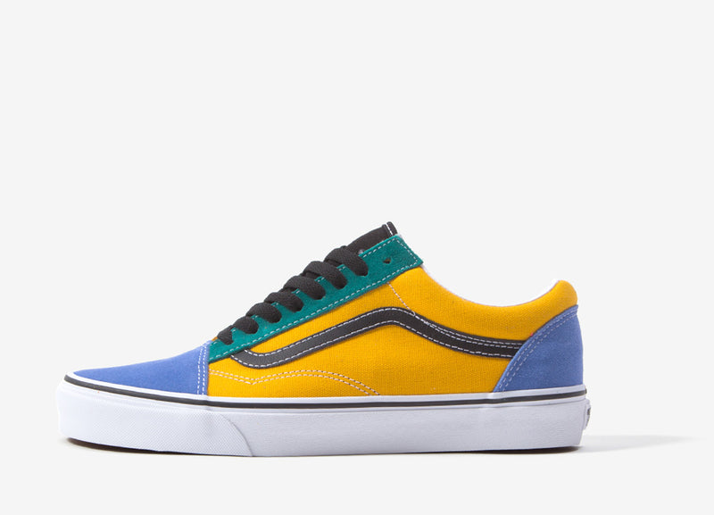 Vans Old Skool (Mix & Match) Shoes - Cadmium Yellow/Tidepool