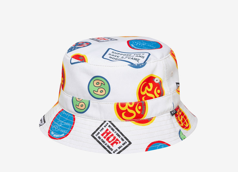 HUF x Woodstock Bucket Hat - Natural