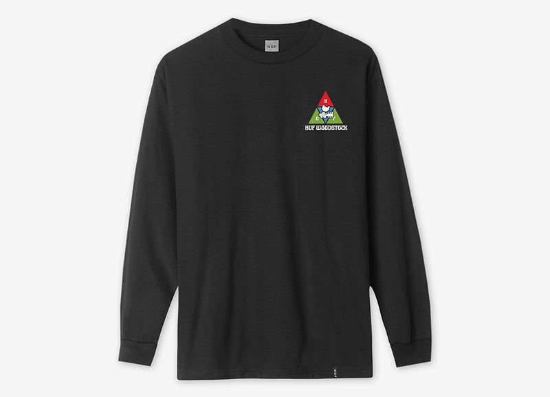 HUF x Woodstock Peaking Long Sleeve T Shirt - Black