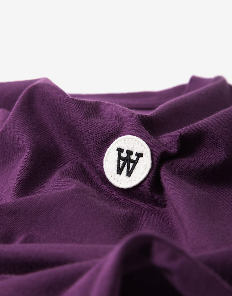 Wood Wood Ace T Shirt - Aubergine