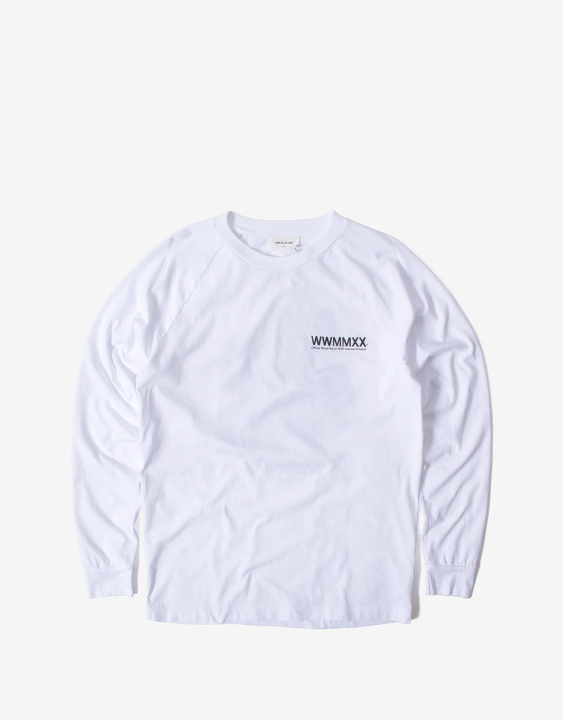 Wood Wood Han Long Sleeve T Shirt - Bright White