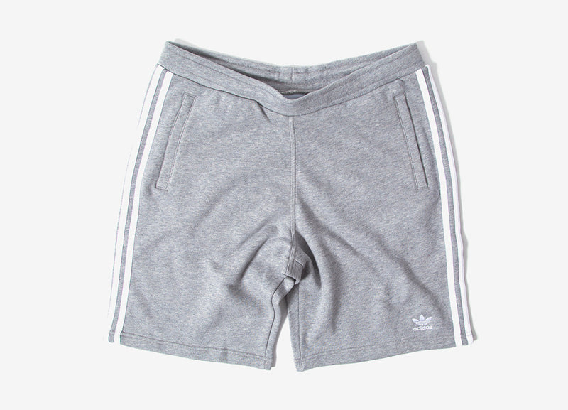 adidas Originals 3-Stripes Shorts - Grey/White