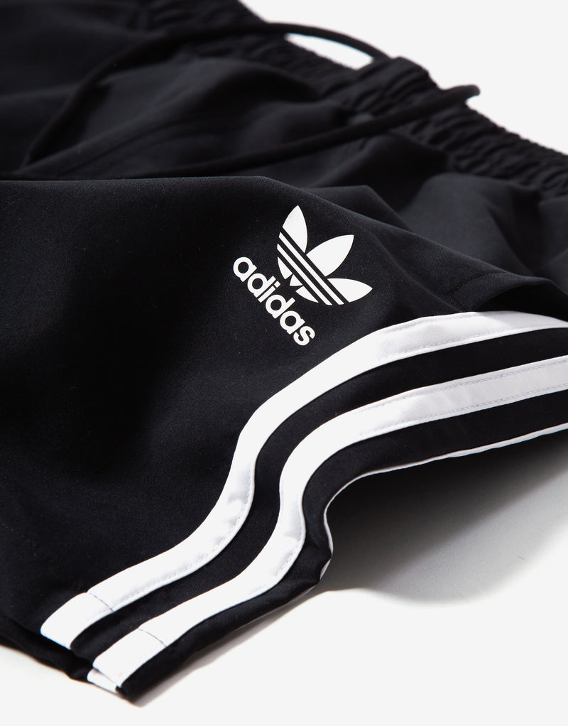 adidas Originals 3 Stripe Swim Shorts - Black
