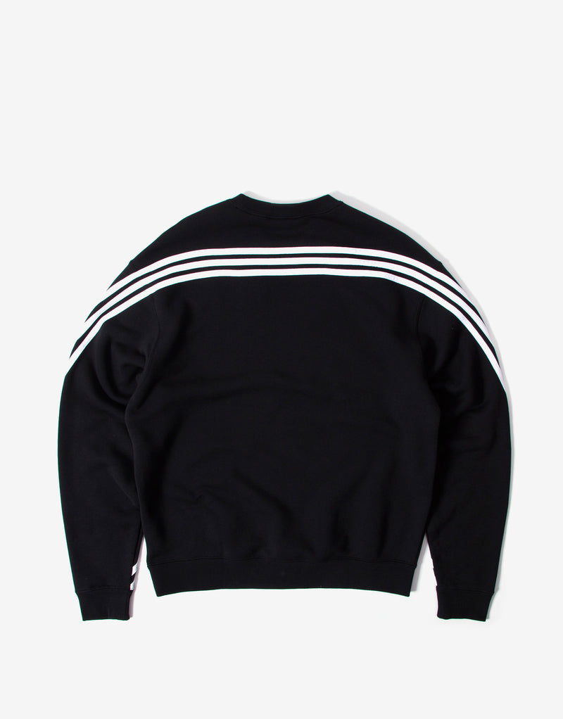 adidas Originals 3 Stripe Wrap Sweatshirt - Black/White