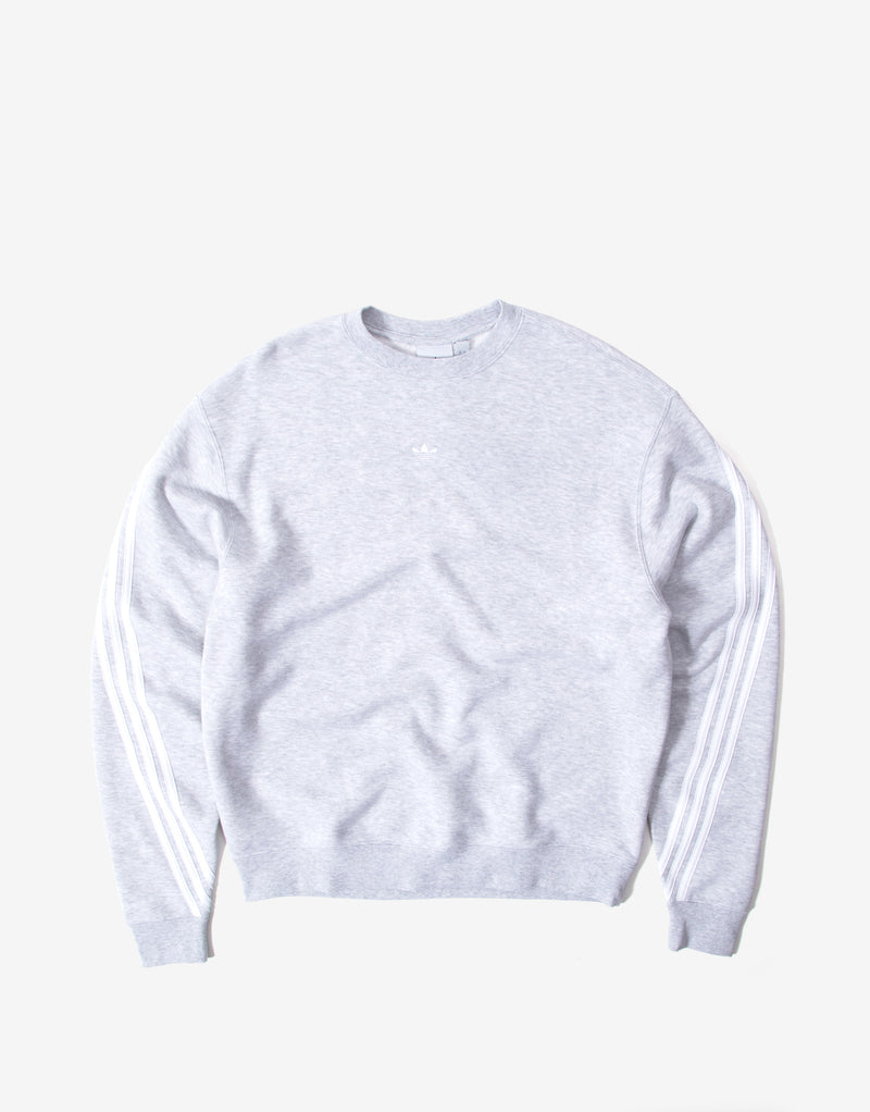 adidas Originals 3 Stripe Wrap Sweatshirt - Grey/White