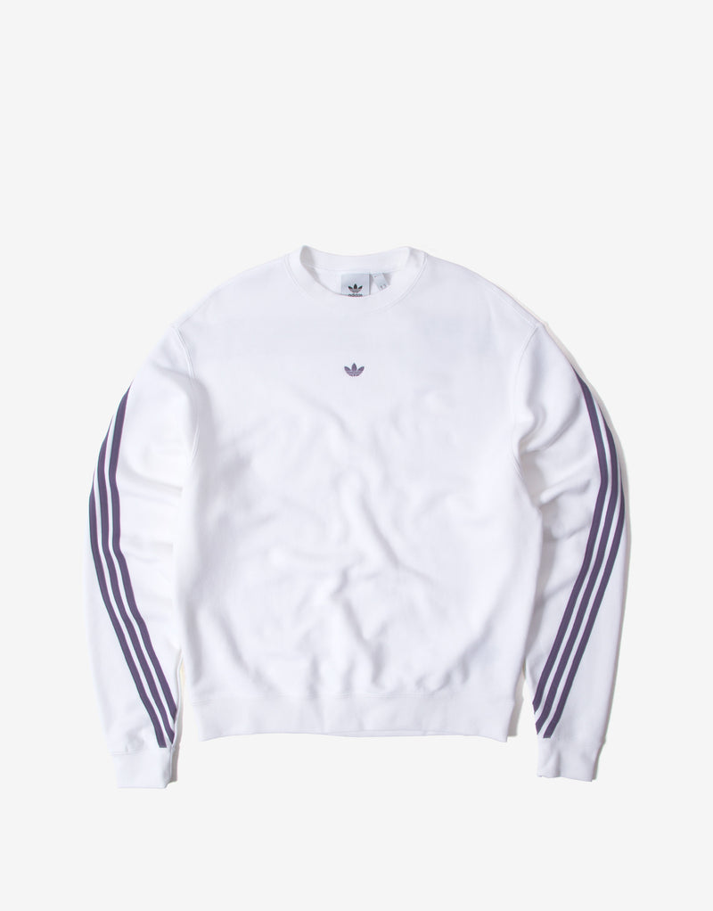 adidas Originals 3 Stripe Wrap Sweatshirt -White/Purple