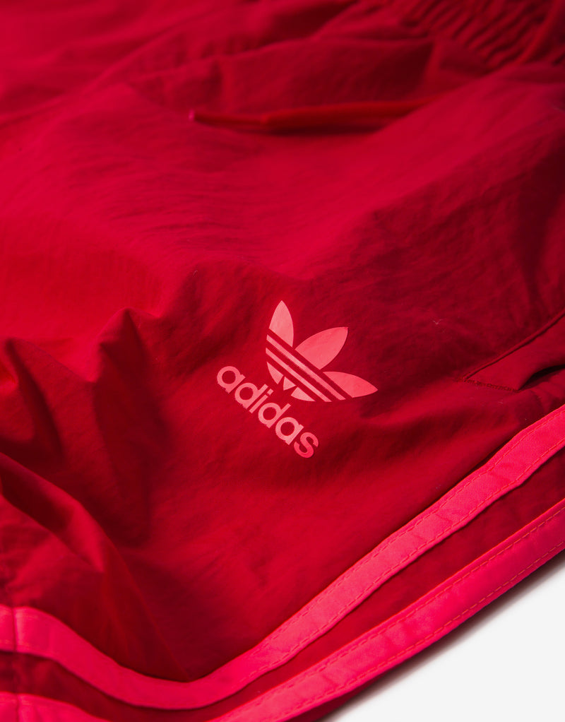 adidas Originals 3 Stripes Swim Shorts - Scarlet/Flame Red