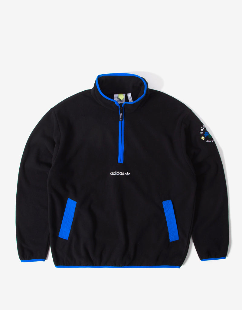 adidas Originals ADV Half Zip Fleece - Black