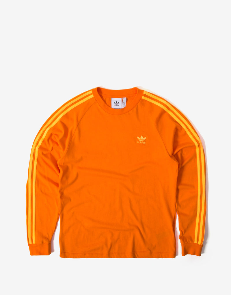 adidas Originals BLC 3 Stripes Long Sleeve T Shirt - Orange