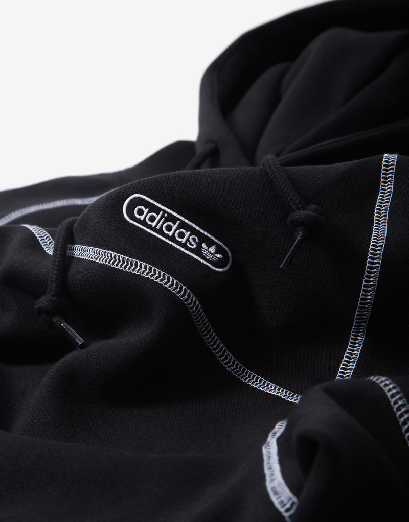 adidas Originals Contrast Stitch Hoody - Black