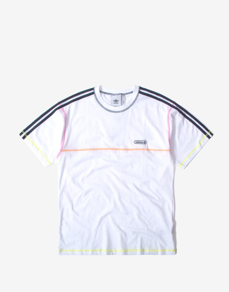 adidas Originals Contrast Stitch T Shirt - White