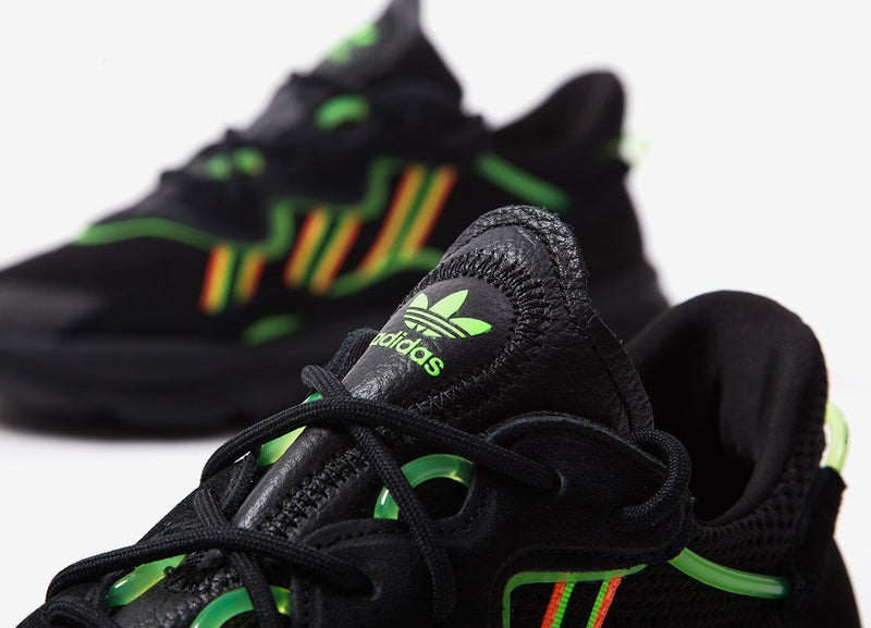 adidas Originals Ozweego - Black/Safety Green