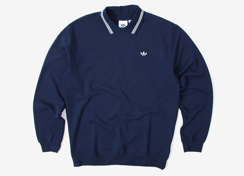 adidas Originals Polo Sweatshirt - Night Indigo