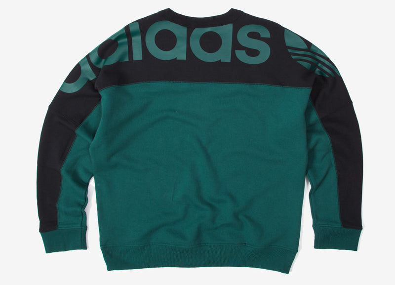adidas Originals RYV BLKD Crewneck Sweatshirt - Green