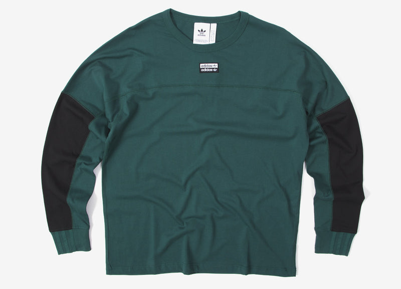 adidas Originals RYV BLKD Long Sleeve T Shirt - Green
