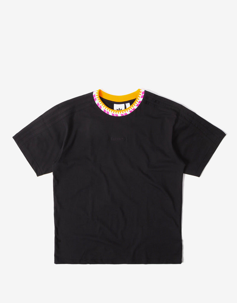 adidas Originals Rib Detail T Shirt - Black