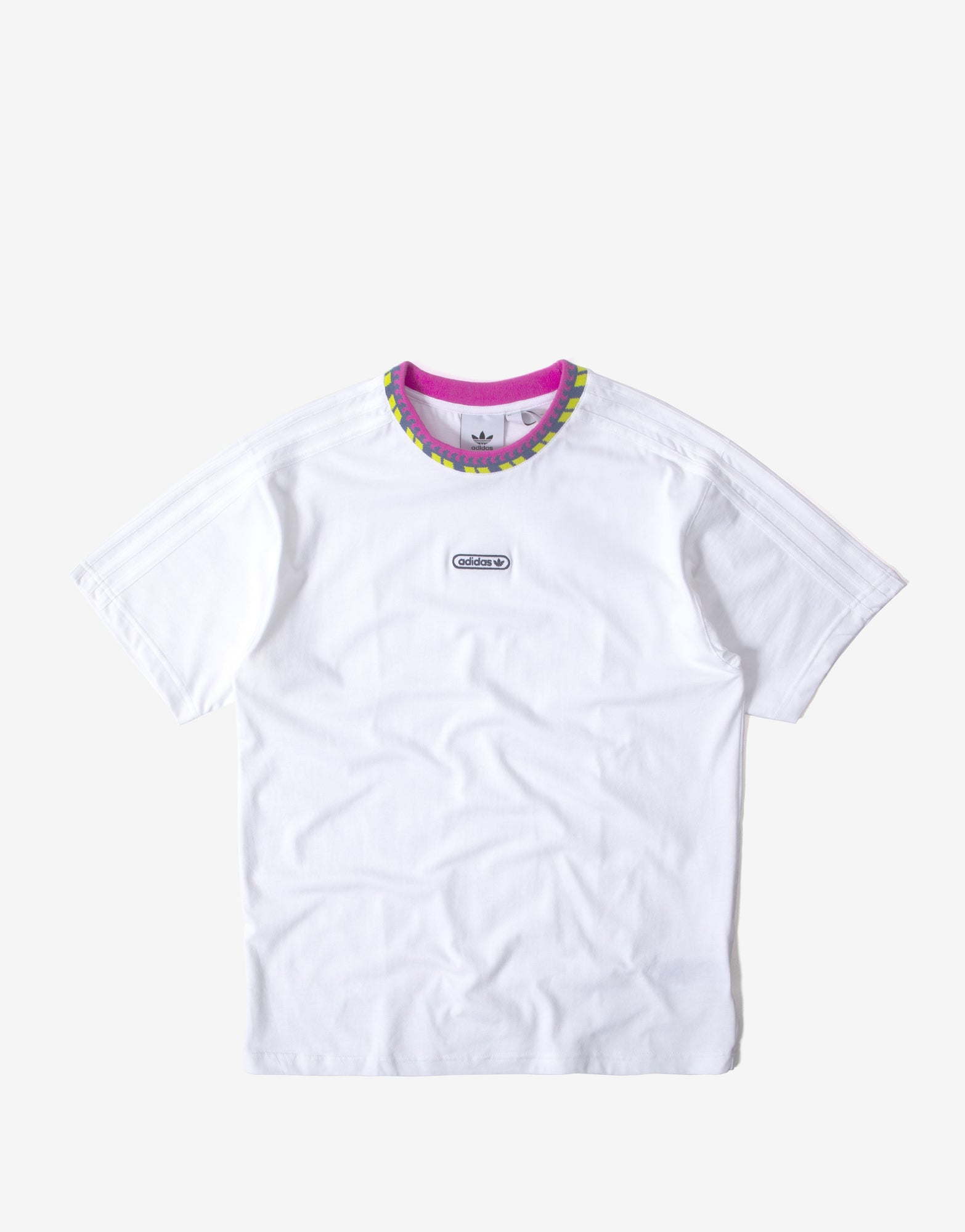 adidas Originals Rib Detail T Shirt - White