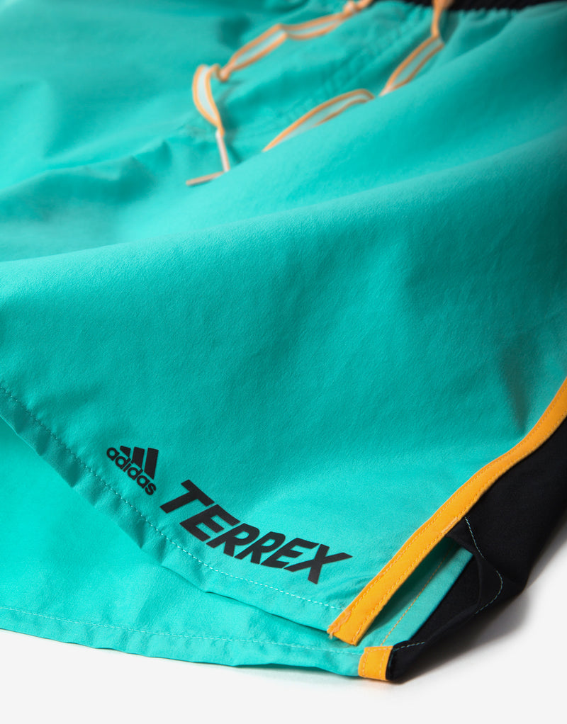 adidas TERREX Primeblue Trail Running Shorts - Acid Mint
