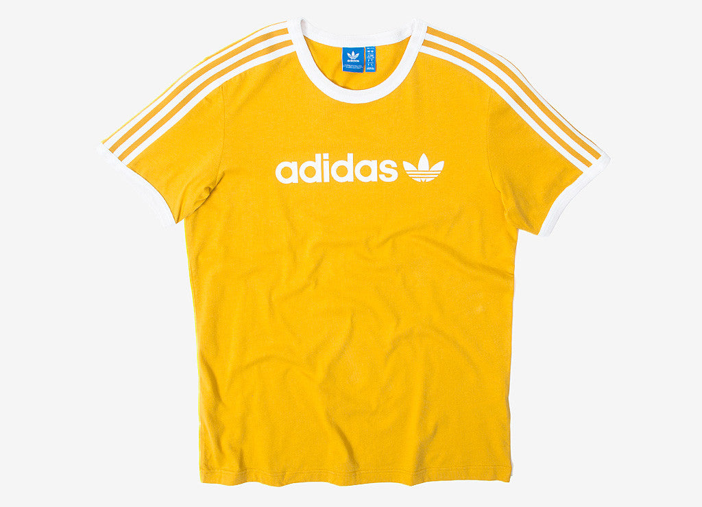 ce21dc391 adidas Originals Linear T Shirt in Tactile Yellow at The Chimp Store
